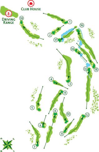 Boavista Golf Course - Course Map