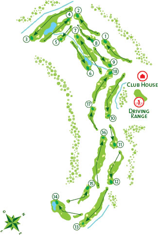 Morgado Golf Course - Course Map