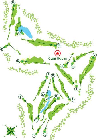Gramacho Golf Course - Course Map