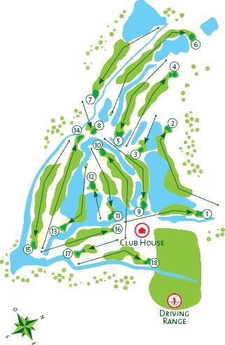 Salgados Golf Course - Course Map