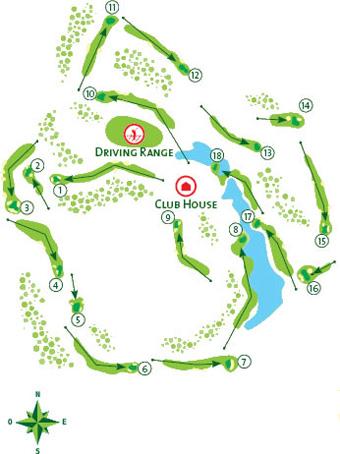 San Lorenzo Golf Course - Course Map