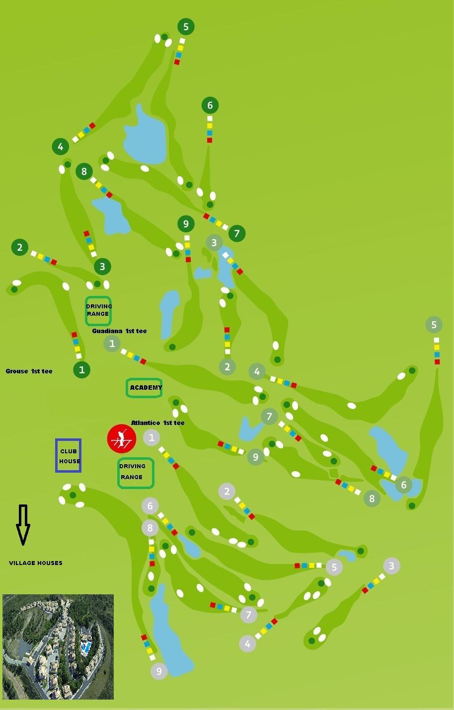 Castro Marim Golf Course - Course Map