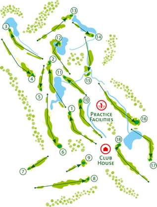 Monte Rei North Golf Course - Course Map