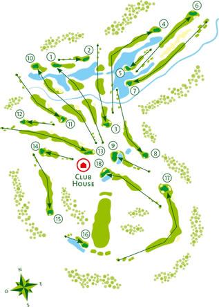 Quinta do Vale Golf Course - Course Map