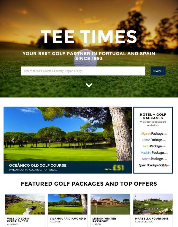Tee Times Portugal Golf - TeeTimes.pt New Website