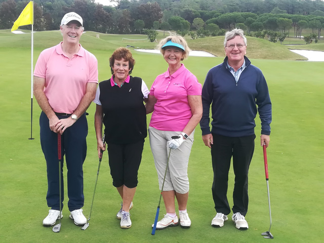 Tee Times Golf Agency Prestige Tournament 2018 - Photo Frank Marmion, Heather Ward, Eithne McMahon and David Harpur