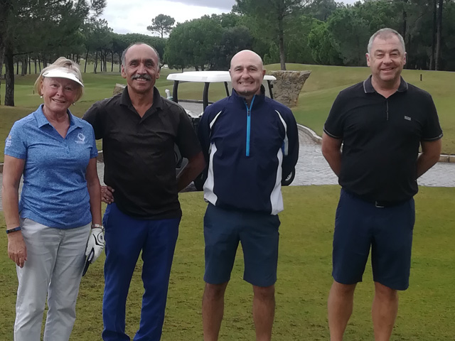 Tee Times Golf Agency Prestige Tournament 2018 - Photo Marie Stradling, Adrian Axe, Chris Fern and Jeremy Edmunds