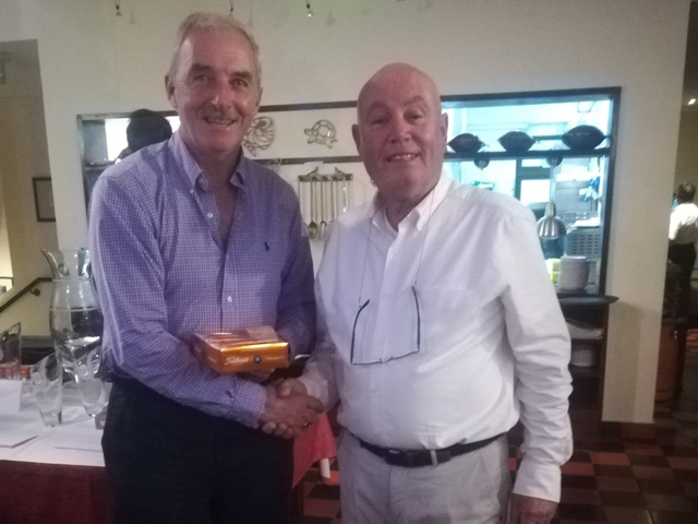 Tee Times Golf Agency Prestige Tournament 2018 - Photo Peter McMahon 3th prize and nearest the Pin at Monte Rei