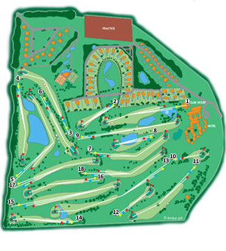 Benalup & Country Club Golf Course map