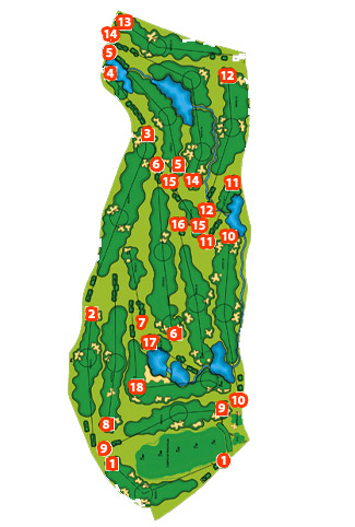 Course Map Villa Nueva Golf