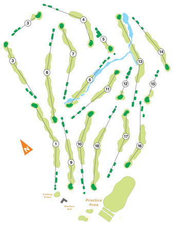 Ribagolfe II Golf Course map