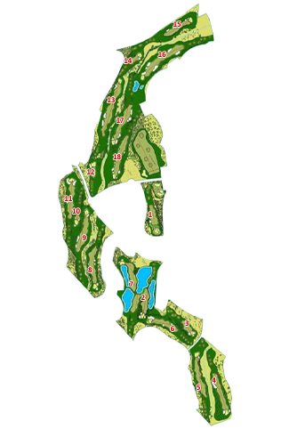 La Monacilla Golf Course map