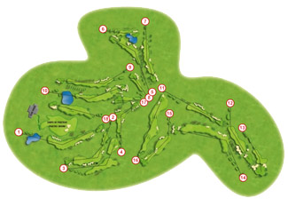 Calanova course Golf Course map