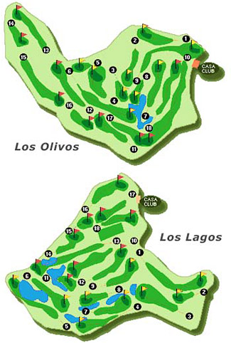 Course Map Mijas Golf - Los Olivos