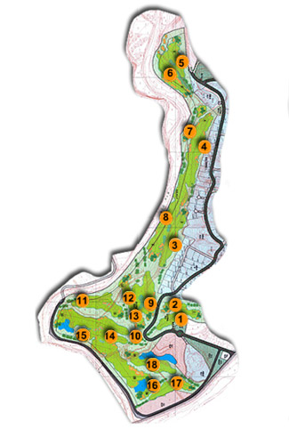 Santana club Golf Course map