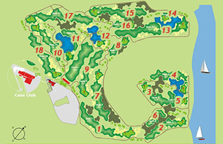 Course Map Salinas de Antigua Golf Course