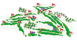 Course Map T Golf & Country Club