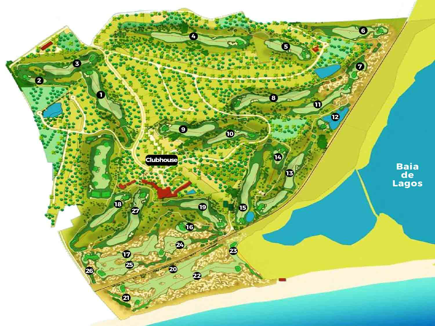Palmares Golf Course Golf Course map