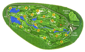 Son Gual Golf Course map