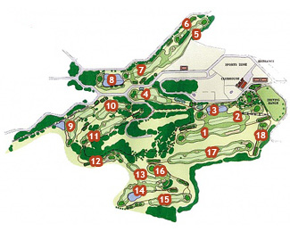 Course Map Son Parc Menorca Golf Course