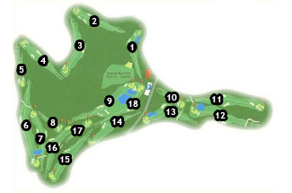 Altorreal Golf Course map