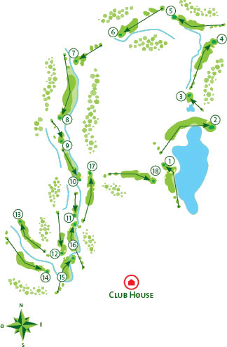 Alamos course Golf Course map