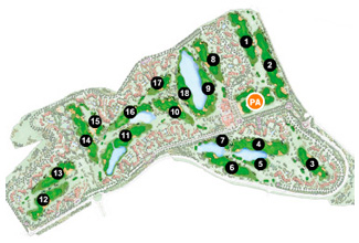 Course Map Hacienda Riquelme Golf Resort