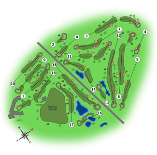La Manga Club Resort North Golf Course map