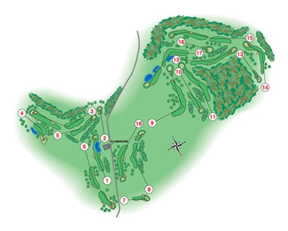 Course Map La Manga Club Resort West