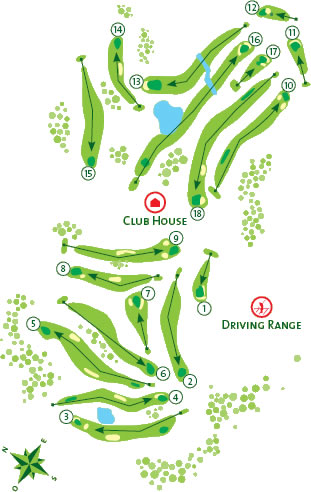 Alto Golf Course Golf Course map
