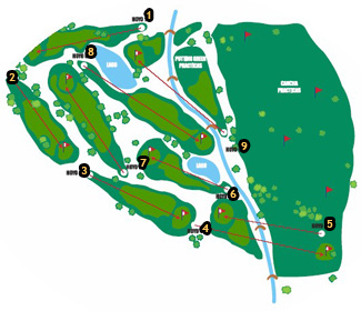 Las Rejas Benidorm Golf Course map