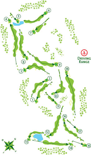 Vale da Pinta Golf Course Golf Course map