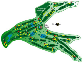 La Marquesa Golf Course map