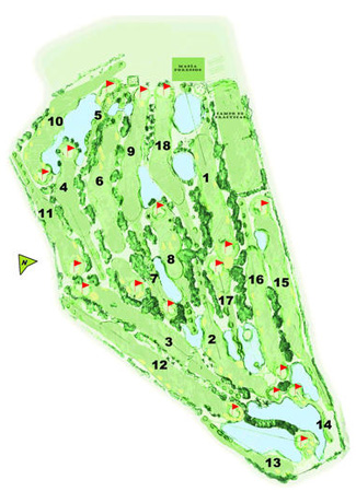 Course Map Foressos Golf Course