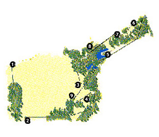 La Mola Club Golf Course map