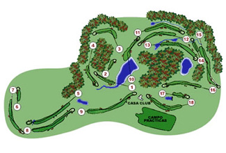 Montanya Golf Course map