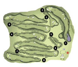 Course Map Sant Feliu Golf Course