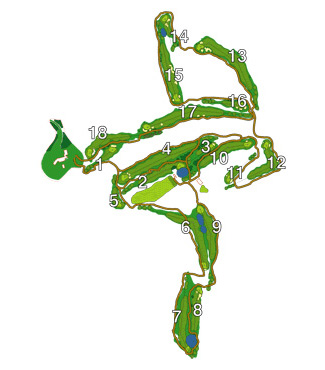 Sant Vicenç de Montalt Golf Course map