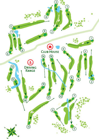 Penina Resort Golf Course map
