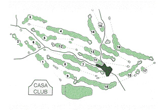 Course Map Aravell Golf Andorra