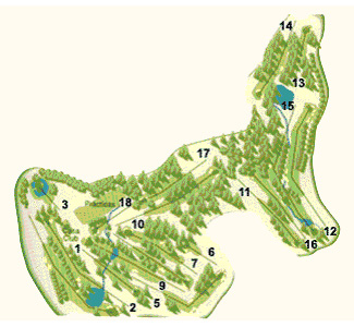 Course Map Reus Aigüesverds Golf Club
