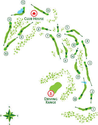 Quinta do Lago North Golf Course map