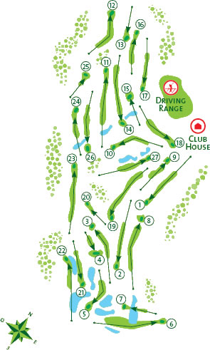 Vila Sol Golf Course Golf Course map