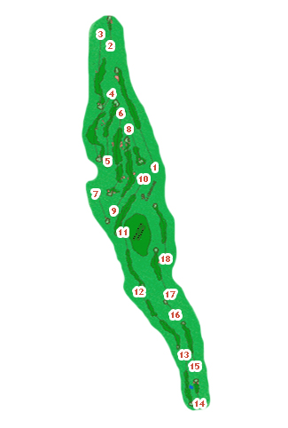 Course Map Llanes Golf Course