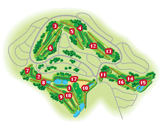 Layos Golf Course map