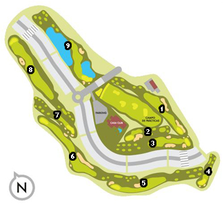 Course Map Señorío de Illescas Golf Course