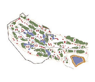 El Fresnillo Golf Course map