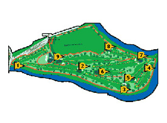 Isla Dos Aguas Golf Course map