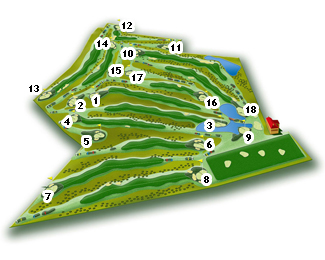 La Valmuza Golf Course map