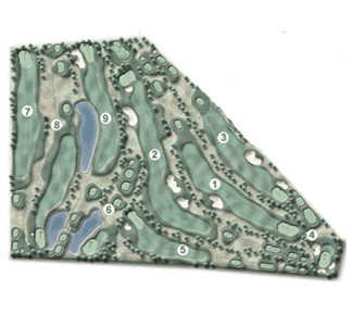 Course Map Las Llanas S.L. Ctra. Fresno Golf Course